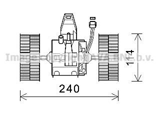 Moteur de ventilateur de chauffage AVA QUALITY COOLING BW8491 (X1)