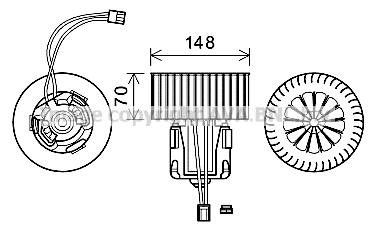 Moteur de ventilateur de chauffage AVA QUALITY COOLING BW8539 (X1)