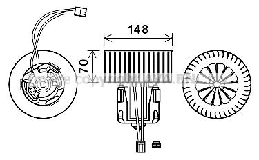 Moteur de ventilateur de chauffage AVA QUALITY COOLING BW8540 (X1)