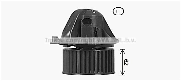 Moteur de ventilateur de chauffage AVA QUALITY COOLING BW8584 (X1)