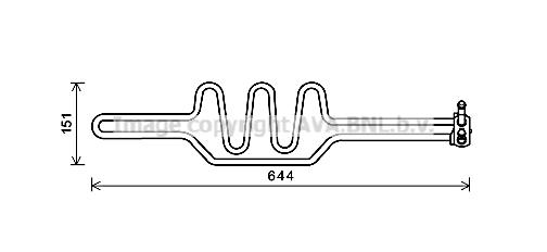 Radiateur de direction AVA QUALITY COOLING BWA3469 (X1)