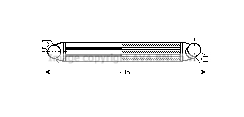 Intercooler radiateur de turbo AVA QUALITY COOLING BWA4340 (X1)