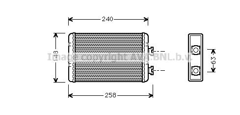 Radiateur de chauffage AVA QUALITY COOLING BWA6210 (X1)