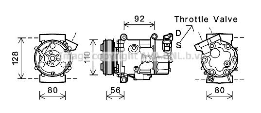 Compresseur AVA QUALITY COOLING BWK416 (X1)