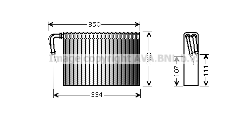 Evaporateur AVA QUALITY COOLING BWV305 (X1)
