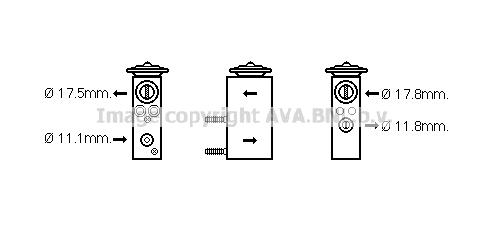 Detendeur de climatisation AVA QUALITY COOLING CN1276 (X1)