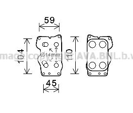 Radiateur huile AVA QUALITY COOLING CN3307 (X1)