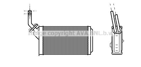 Radiateur de chauffage AVA QUALITY COOLING CN6056 (X1)