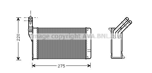 Radiateur de chauffage AVA QUALITY COOLING CN6082 (X1)
