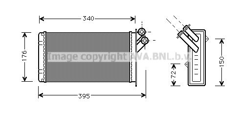 Radiateur de chauffage AVA QUALITY COOLING CN6129 (X1)