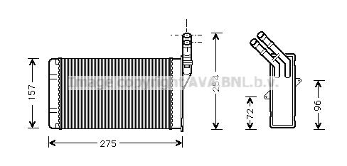 Radiateur de chauffage AVA QUALITY COOLING CN6150 (X1)