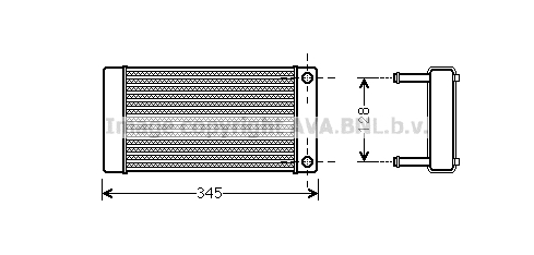 Radiateur de chauffage AVA QUALITY COOLING CN6265 (X1)