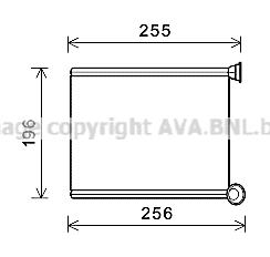 Radiateur de chauffage AVA QUALITY COOLING CN6281 (X1)