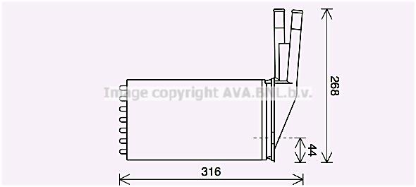 Radiateur de chauffage AVA QUALITY COOLING CN6313 (X1)