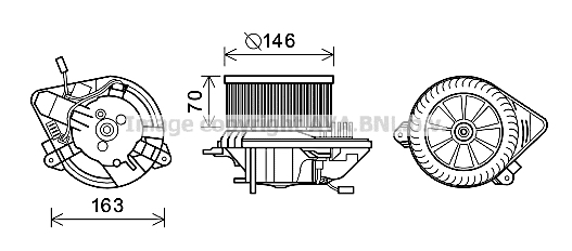 Moteur de ventilateur de chauffage AVA QUALITY COOLING CN8295 (X1)