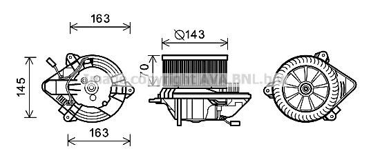 Moteur de ventilateur de chauffage AVA QUALITY COOLING CN8506 (X1)