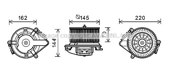 Moteur de ventilateur de chauffage AVA QUALITY COOLING CN8507 (X1)
