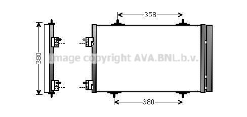 Condenseur / Radiateur de climatisation AVA QUALITY COOLING CNA5272D (X1)