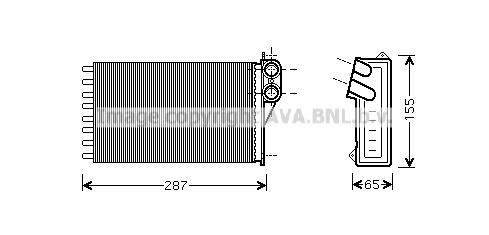 Radiateur de chauffage AVA QUALITY COOLING CNA6232 (X1)