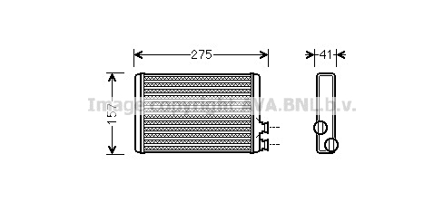 Radiateur de chauffage AVA QUALITY COOLING CNA6305 (X1)