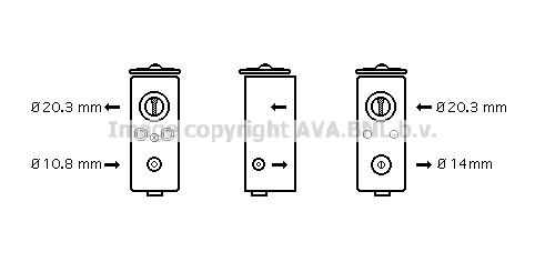 Detendeur de climatisation AVA QUALITY COOLING CR1082 (X1)