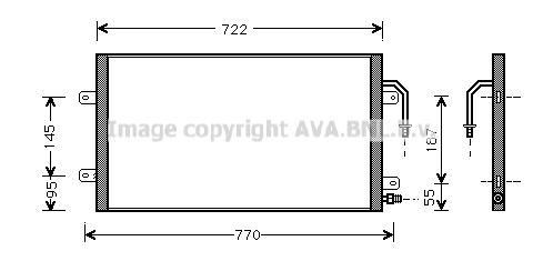 Condenseur / Radiateur de climatisation AVA QUALITY COOLING CR5012 (X1)