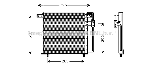 Condenseur / Radiateur de climatisation AVA QUALITY COOLING CR5017 (X1)