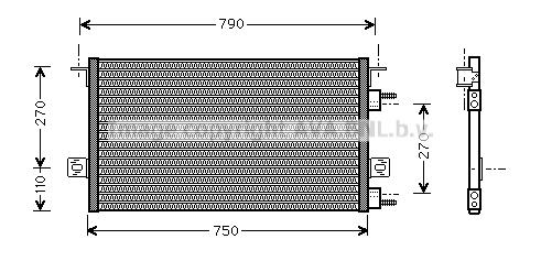 Condenseur / Radiateur de climatisation AVA QUALITY COOLING CR5037 (X1)