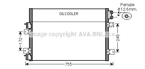 Condenseur / Radiateur de climatisation AVA QUALITY COOLING CRA5113 (X1)