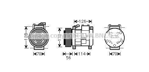 Compresseur AVA QUALITY COOLING CRAK062 (X1)
