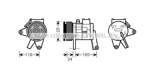 Compresseur AVA QUALITY COOLING CRAK063 (X1)