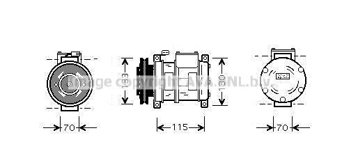 Compresseur AVA QUALITY COOLING CRAK064 (X1)