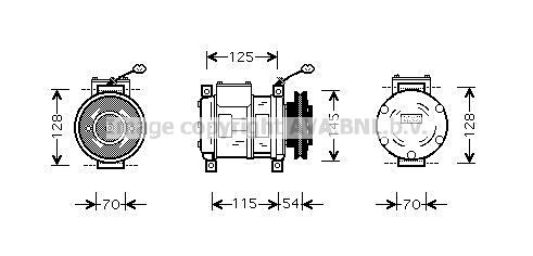 Compresseur AVA QUALITY COOLING CRAK074 (X1)