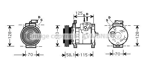 Compresseur AVA QUALITY COOLING CRAK094 (X1)