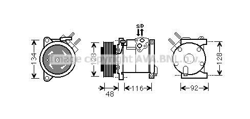 Compresseur AVA QUALITY COOLING CRAK102 (X1)