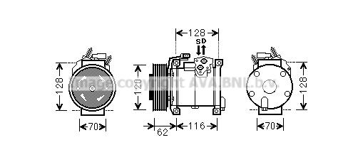 Compresseur AVA QUALITY COOLING CRAK109 (X1)