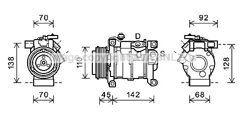 Compresseur AVA QUALITY COOLING CRAK128 (X1)