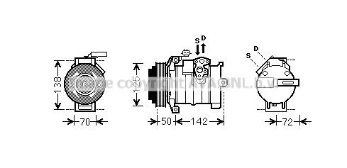 Compresseur AVA QUALITY COOLING CRAK129 (X1)