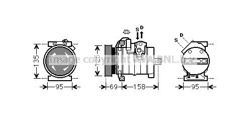 Compresseur AVA QUALITY COOLING CRAK130 (X1)