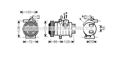 Compresseur AVA QUALITY COOLING CRAK132 (X1)