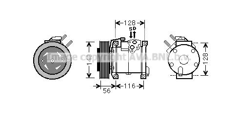 Compresseur AVA QUALITY COOLING CRK108 (X1)