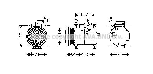 Compresseur AVA QUALITY COOLING CRK115 (X1)