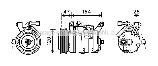 Compresseur AVA QUALITY COOLING CRK120 (X1)