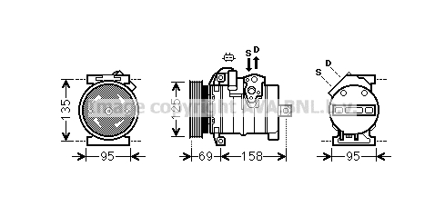 Compresseur AVA QUALITY COOLING CRK130 (X1)