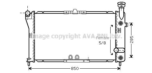 Radiateur de refroidissement AVA QUALITY COOLING CT2032 (X1)