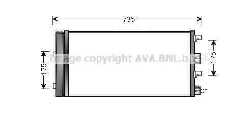 Condenseur / Radiateur de climatisation AVA QUALITY COOLING DA5004D (X1)