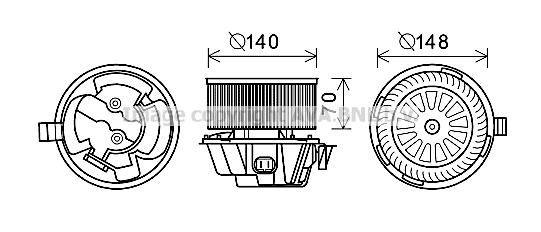 Moteur de ventilateur de chauffage AVA QUALITY COOLING DA8012 (X1)