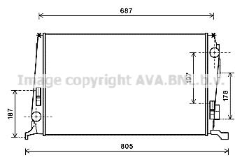 Radiateur de refroidissement AVA QUALITY COOLING DAA2005 (X1)