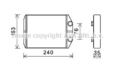 Radiateur de chauffage AVA QUALITY COOLING DAA6014 (X1)