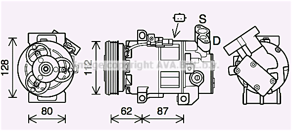 Compresseur AVA QUALITY COOLING DAK015 (X1)